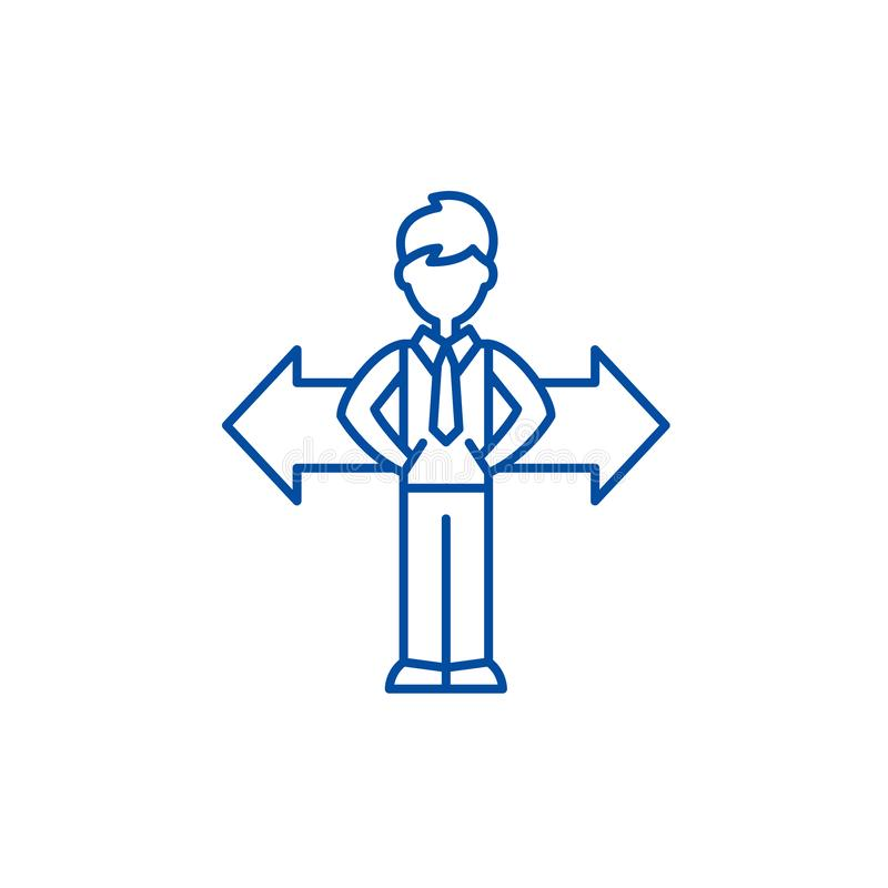 挑选线象概念的问题 挑选平的传染媒介标志,标志,概述例证的问题 向量例证