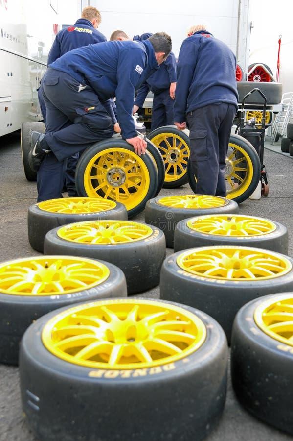 挑选轮胎 免版税库存照片