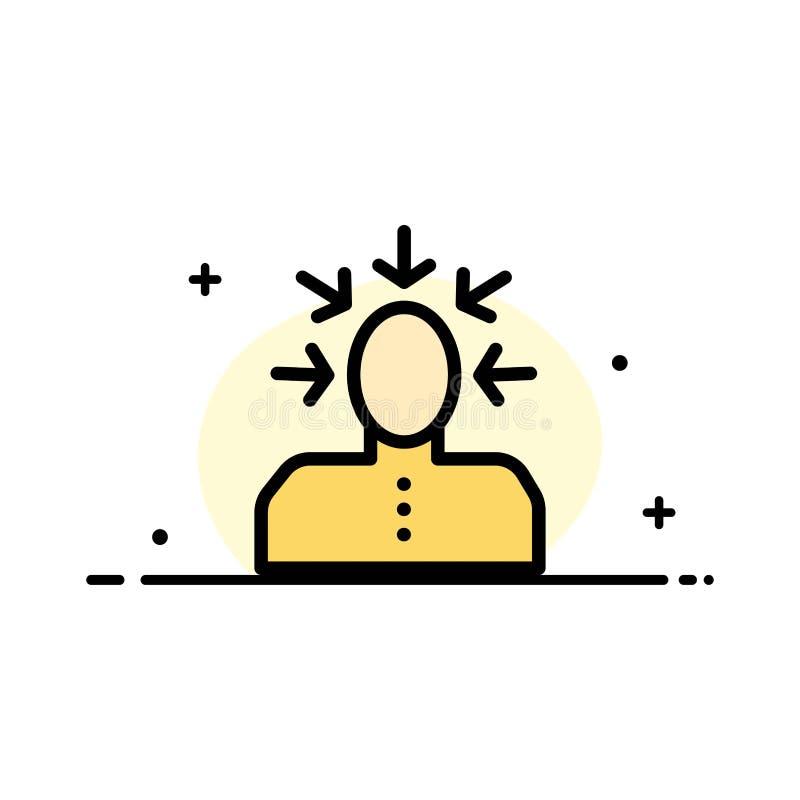 挑选,选择,批评,人,人企业平的线被填装的象传染媒介横幅模板 库存例证