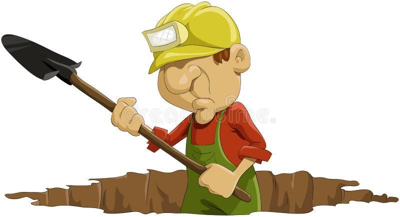 Download 挖土工 向量例证. 插画 包括有 乐趣, 动画片, 查出, 例证, 成人, 闪亮指示, 工作者, 字符, 图象 - 15681925