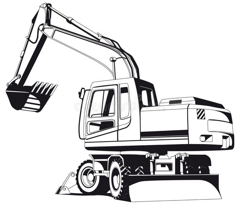 挖掘机分级显示 向量例证