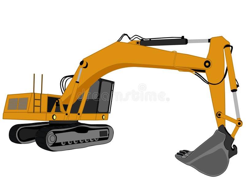 挖掘机向量 库存例证