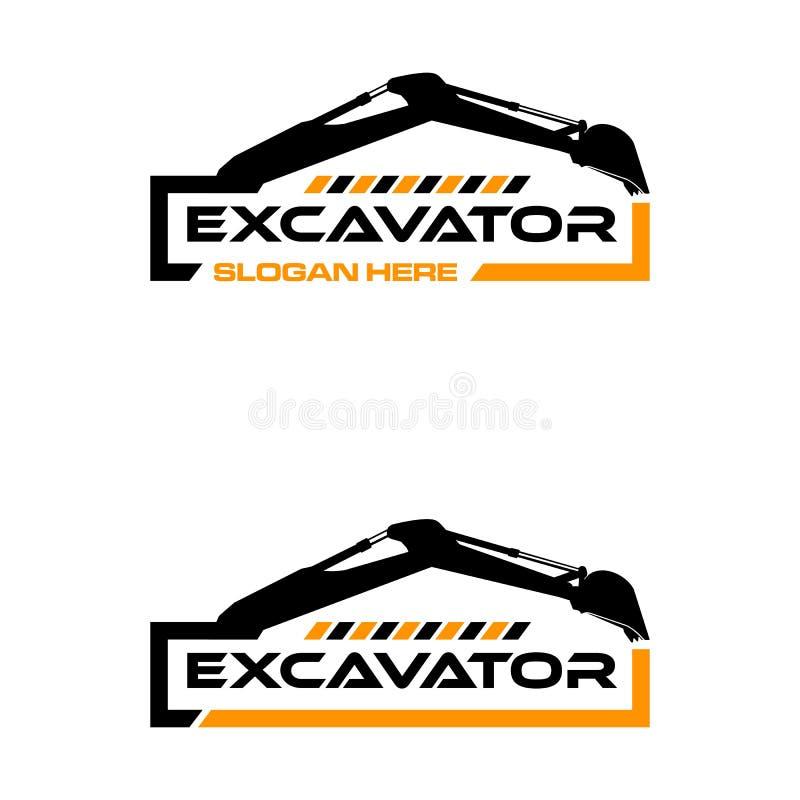 挖掘机商标 向量例证