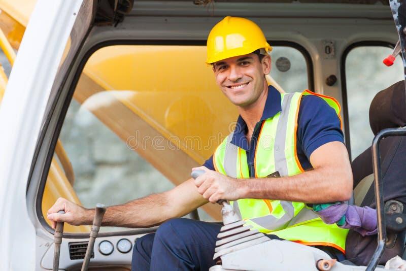 挖掘机操作员 免版税库存照片