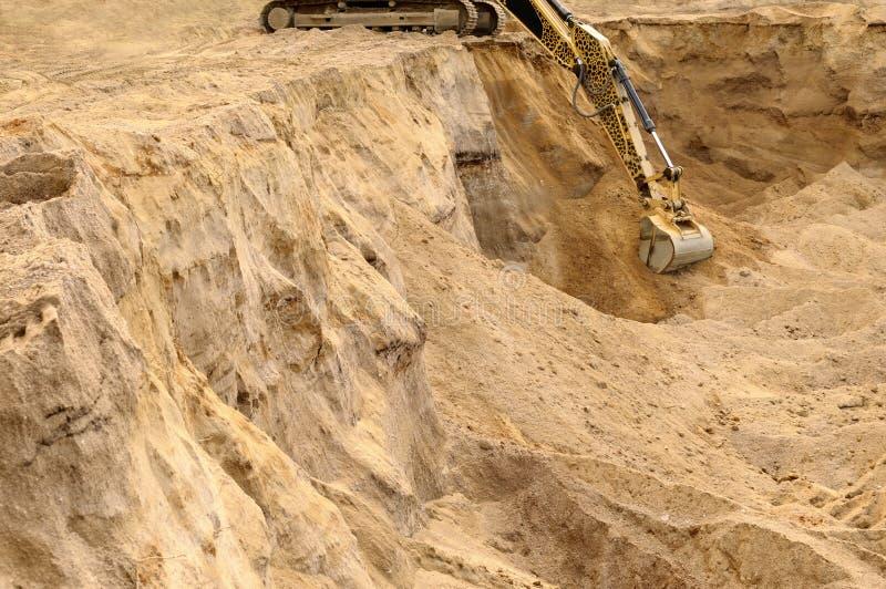 挖掘机槽探 免版税图库摄影