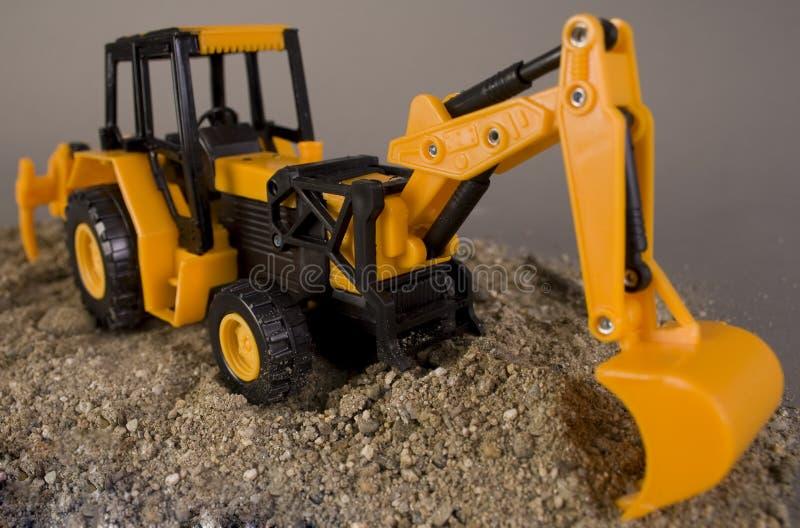 挖掘机玩具 库存图片