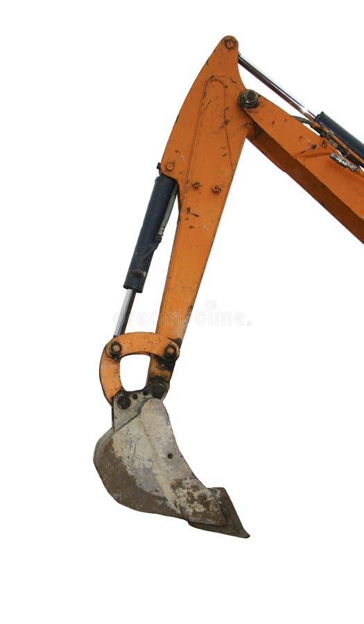 挖掘机的挖掘者 免版税库存照片
