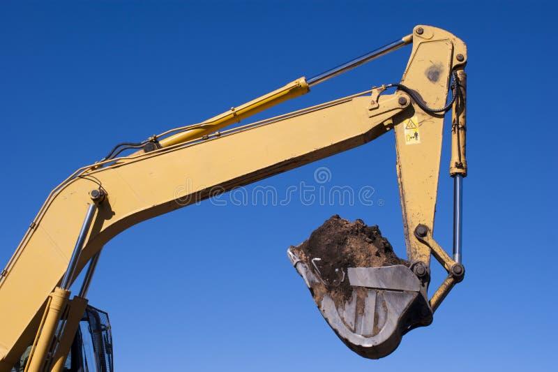 挖掘机的爪 免版税库存照片