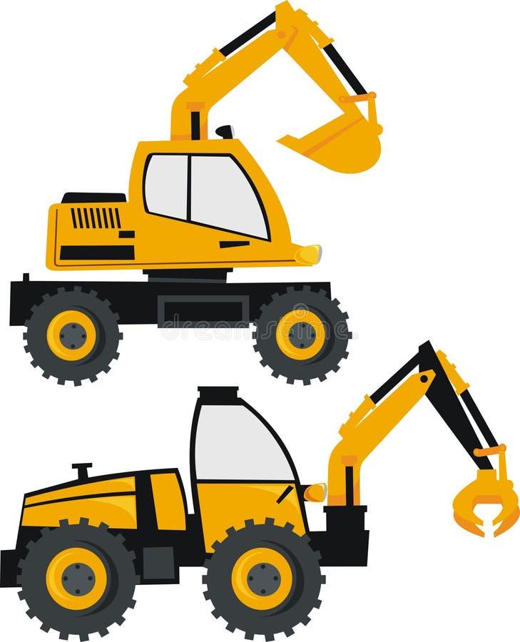 挖掘机装入程序 库存例证