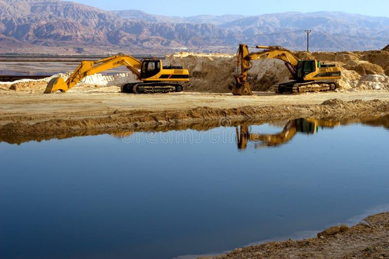 挖掘机设备 免版税库存图片
