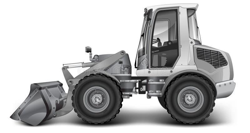 挖泥机灰色 向量例证