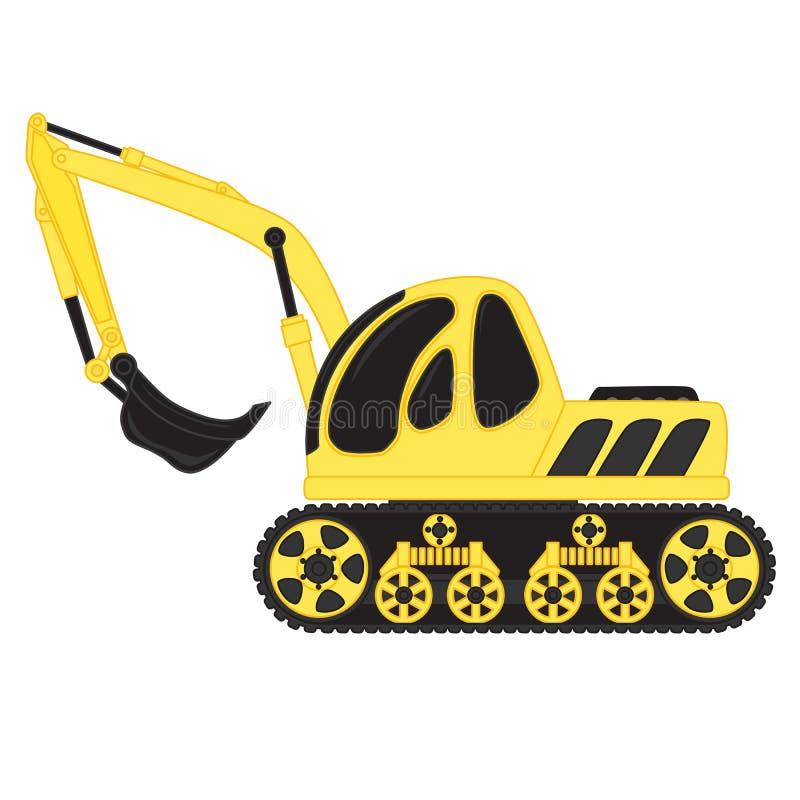挖泥机玩具 皇族释放例证