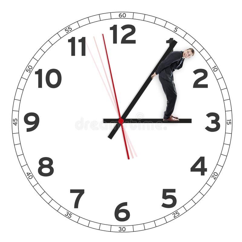阻挡时间的商人 图库摄影