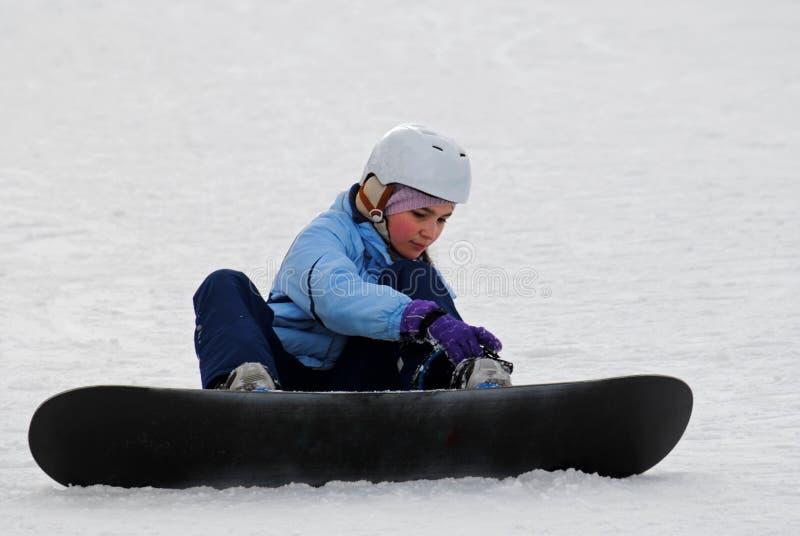 年轻挡雪板 库存图片