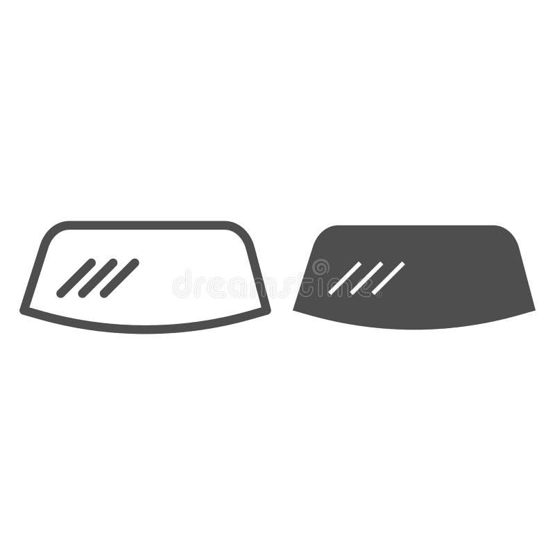 挡风玻璃线和纵的沟纹象 挡风玻璃在白色隔绝的传染媒介例证 车窗概述样式设计 库存例证