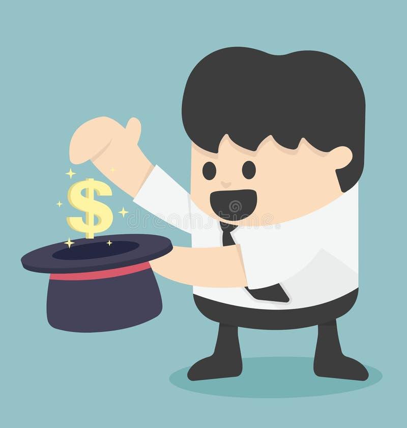 挣与魔术的金钱 向量例证