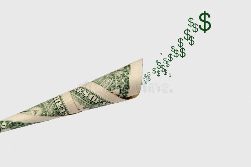 挣的金钱企业概念 金钱谈话 库存图片