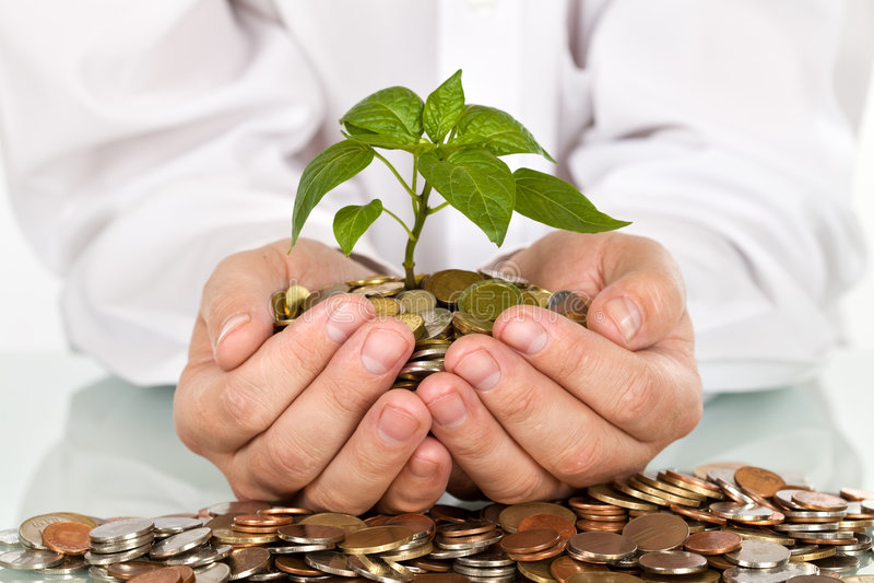 挣货币的概念有利的投资 库存照片