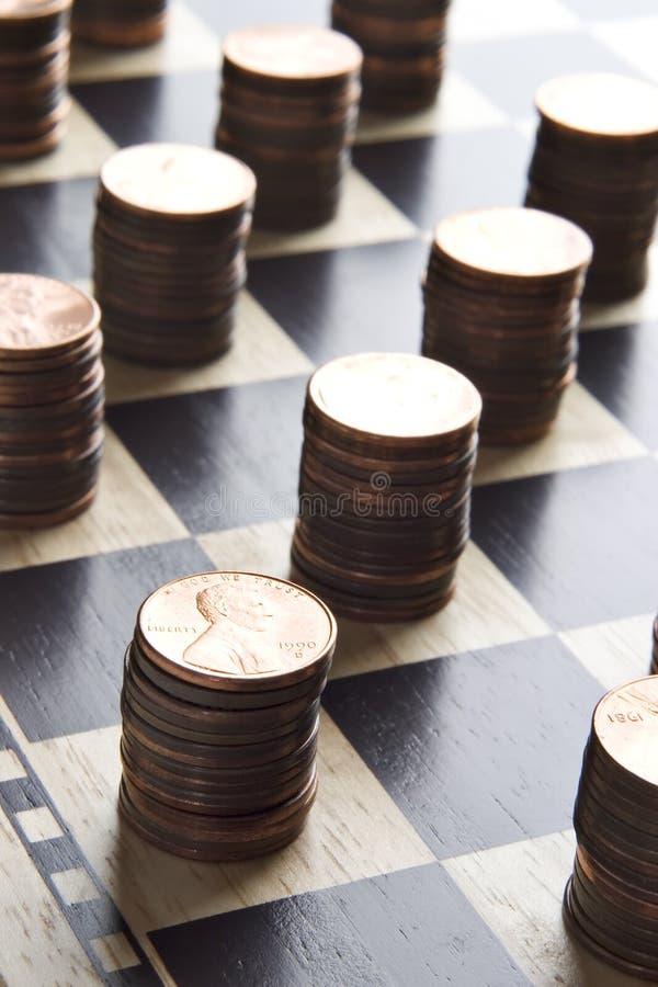 挣货币的比赛 库存照片