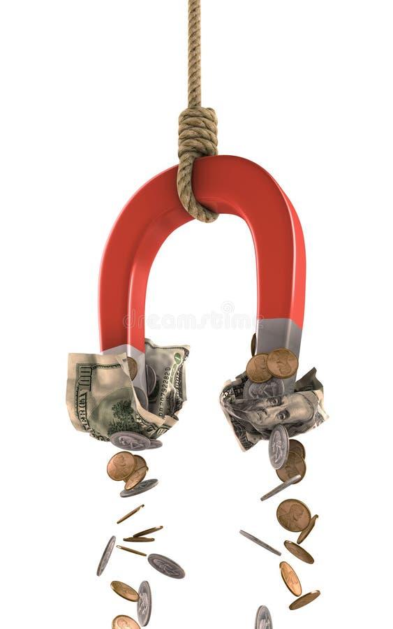 挣货币 库存例证