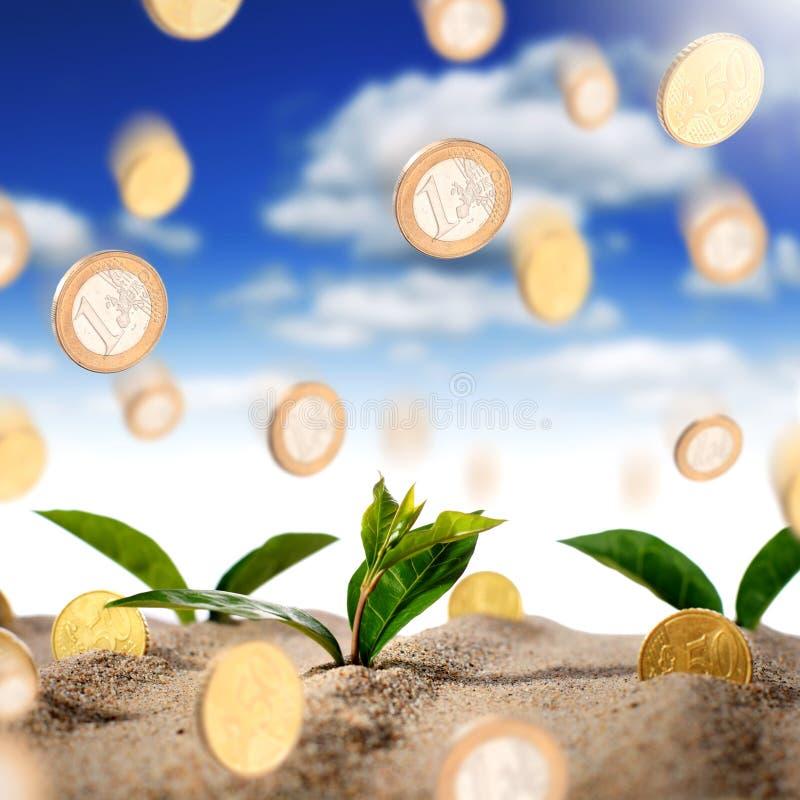 挣货币的概念 免版税库存照片