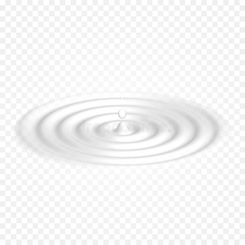挤奶奶油色酸奶白色波浪背景传染媒介流动乳制品 液体weavy表面 皇族释放例证