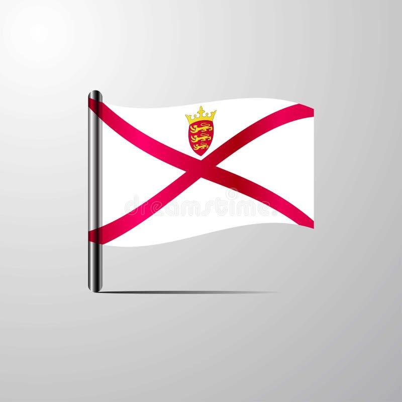 挥动发光的旗子设计传染媒介的泽西 向量例证