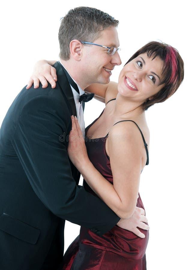 挥动的夫妇 免版税库存图片