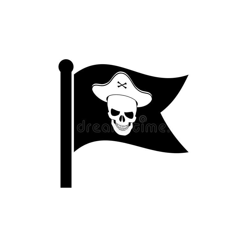 挥动的海盗旗子象标志商标 向量例证