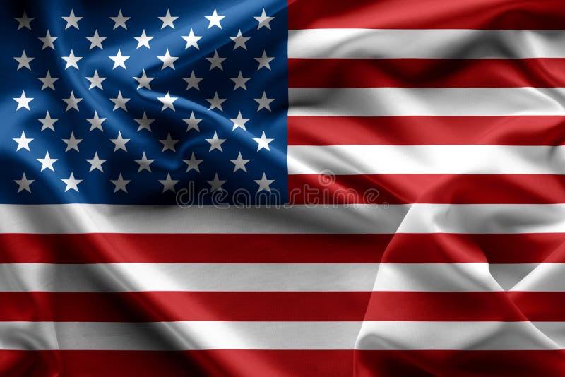 挥动的美国国旗美国纹理, backgrou 库存图片