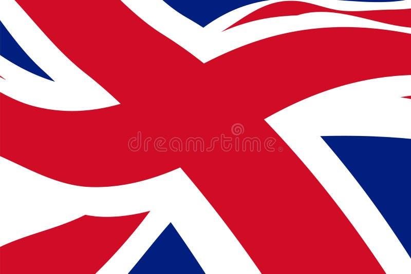 挥动的英国旗子 皇族释放例证