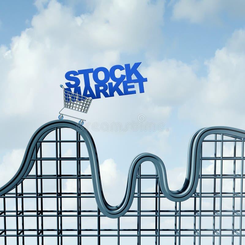 挥发性股票市场 皇族释放例证