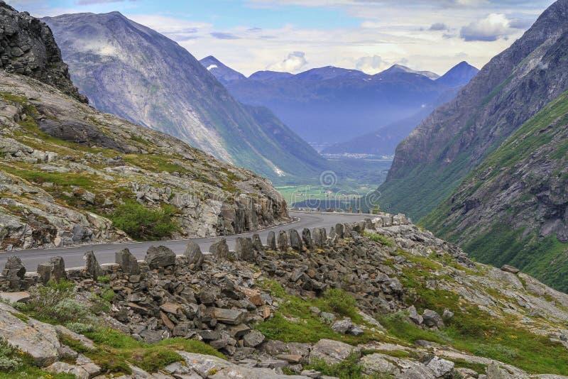 挪威全国路RV63 库存图片