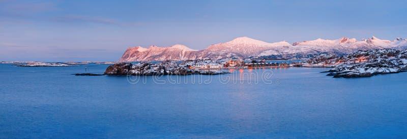 挪威全景s传说冬天 免版税库存图片