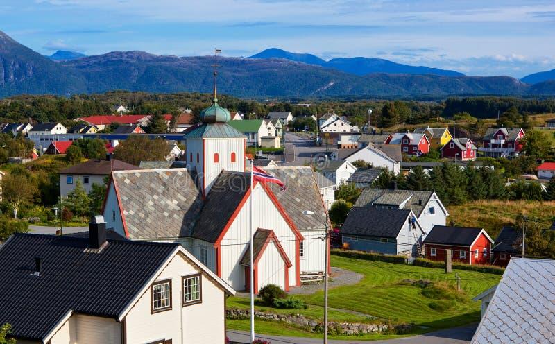 挪威城镇 库存图片