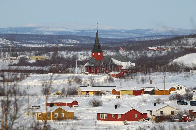 挪威城镇 库存照片