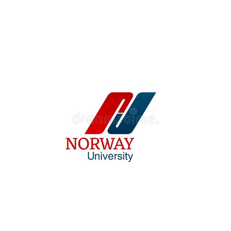 挪威大学创造性的传染媒介 皇族释放例证