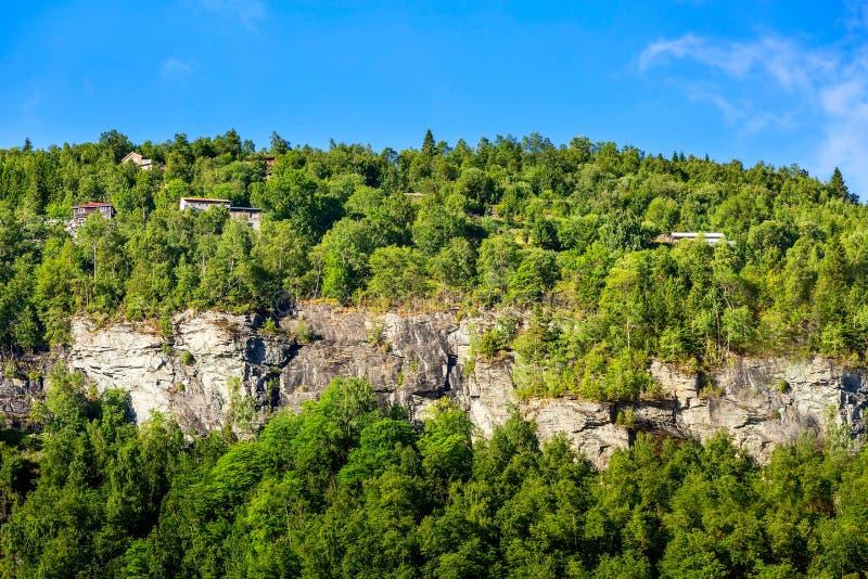 挪威山村风景 图库摄影