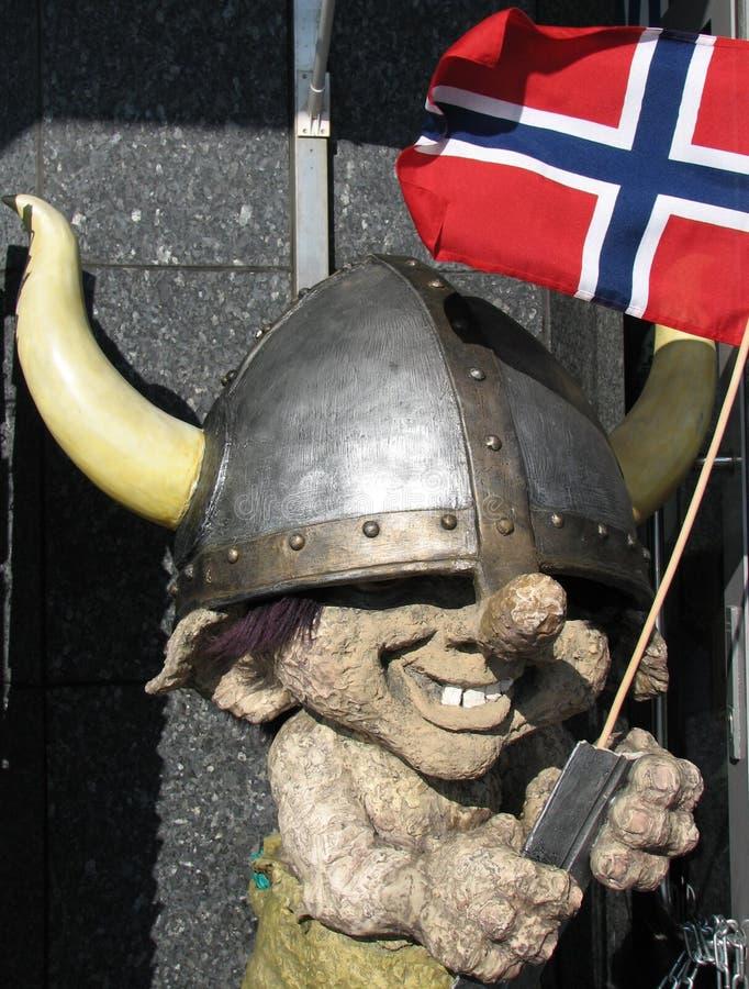 挪威拖钓北欧海盗 库存照片