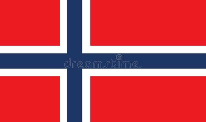 挪威旗子传染媒介eps10 挪威旗子 原始和简单的在正式颜色的挪威旗子被隔绝的传染媒介 库存例证