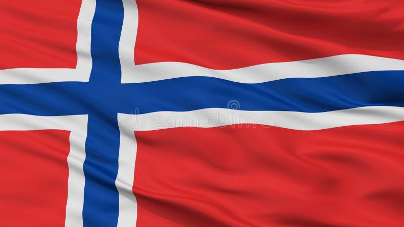 挪威旗子特写镜头视图 库存例证