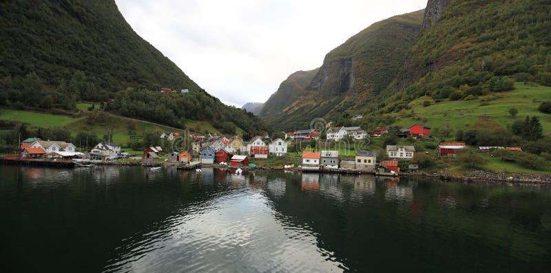 挪威村庄 免版税库存照片
