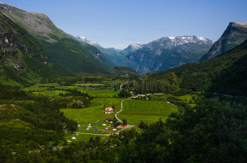 挪威横向 免版税库存图片