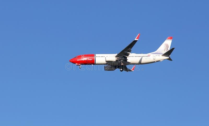 挪威波音737-8JP 库存图片