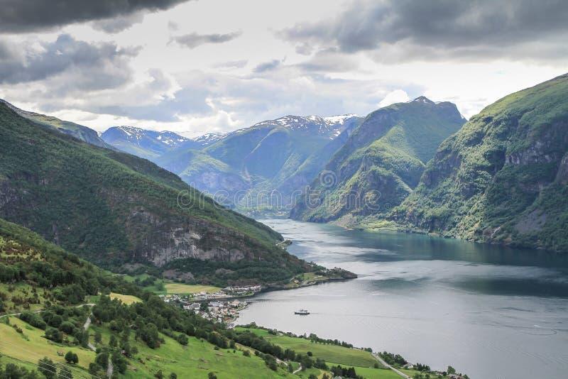 挪威海湾夏天 库存照片