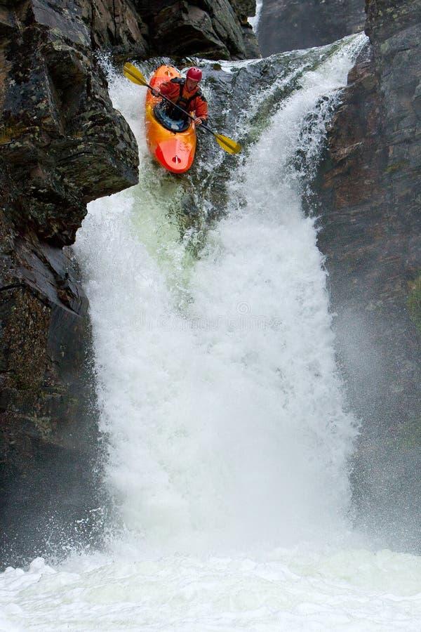 挪威瀑布 免版税图库摄影