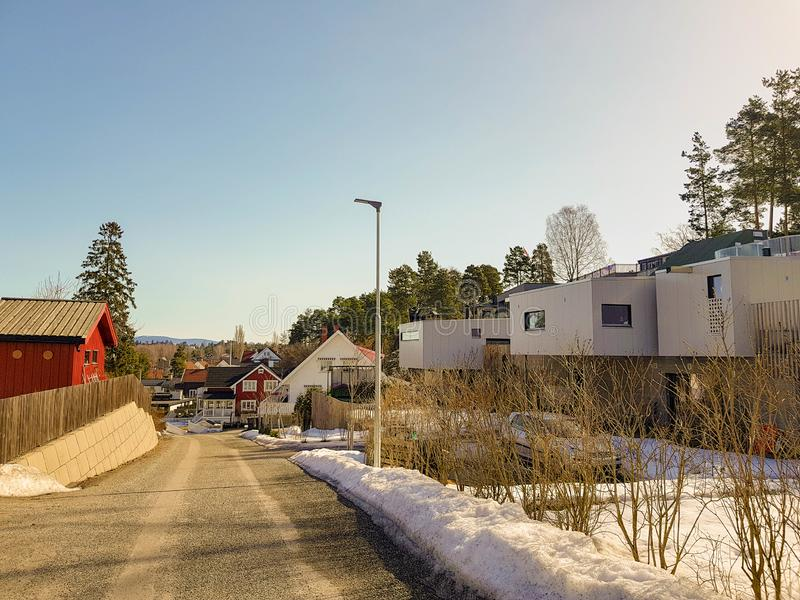 挪威现代建筑学 免版税图库摄影