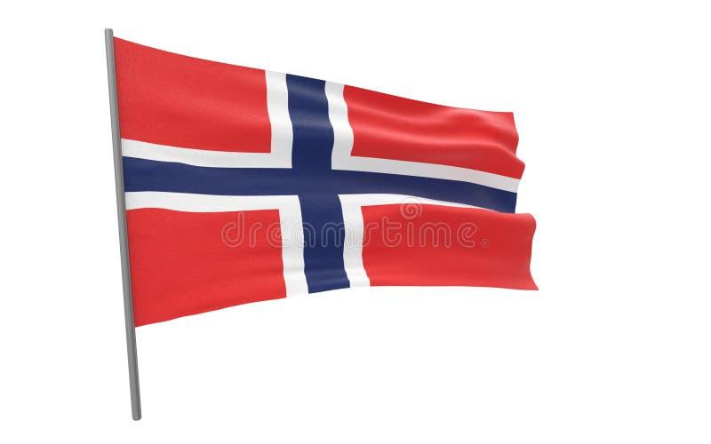 挪威的旗子 皇族释放例证