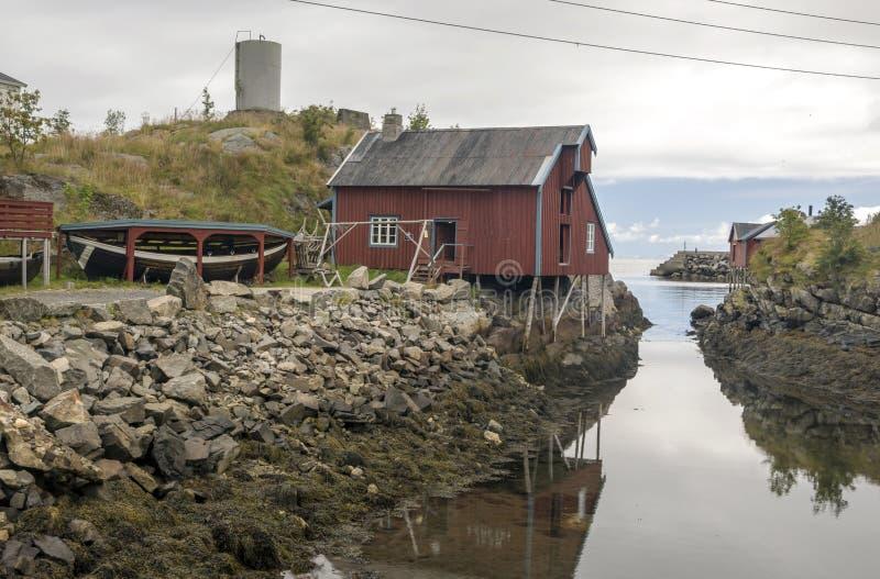 挪威的河道线路 库存照片