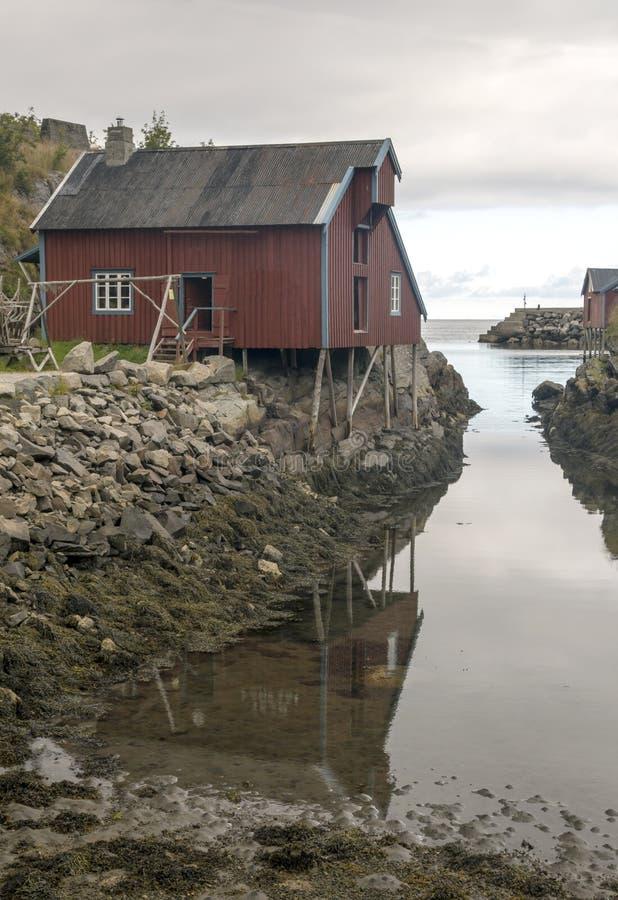 挪威的河道线路 图库摄影